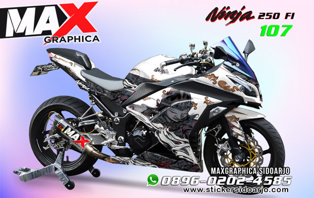 Decal Ninja 250 Fi Putih Fullbody Print