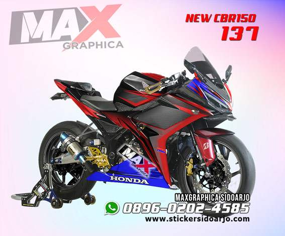 STICKER DECAL MOTOR CBR 150 MERAH FULL BODY