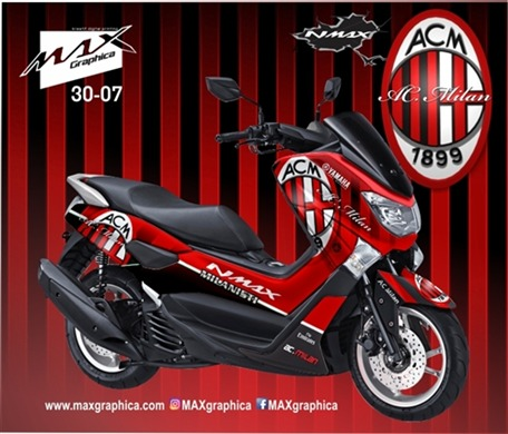 Inspirasi Sticker Decal Nmax Merah Movistar Terbaru