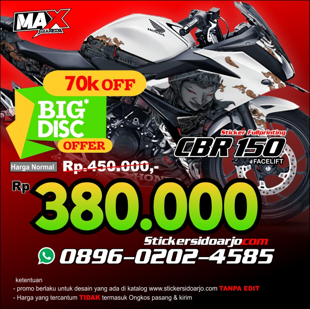 decal CBR 150R maxgraphica cutting sticker sidoarjo