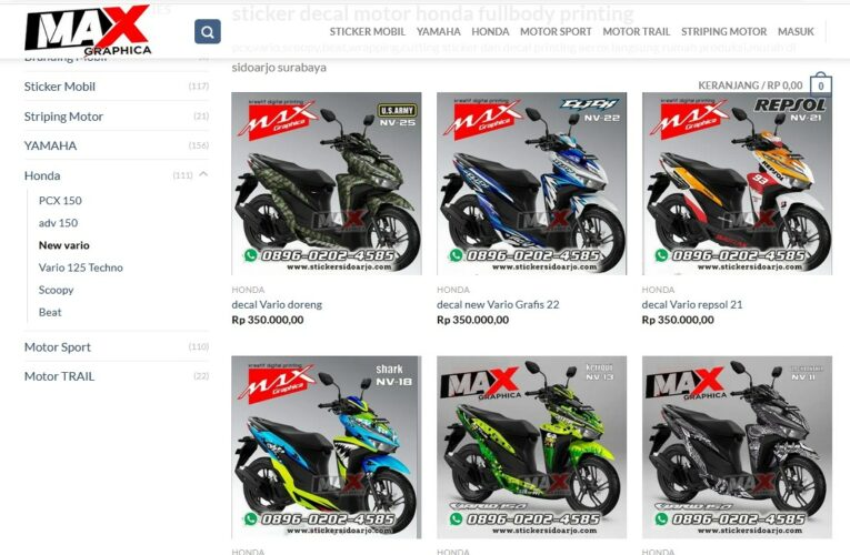 Harga paling Murah Decal Vario Cutting Sticker Sidoarjo